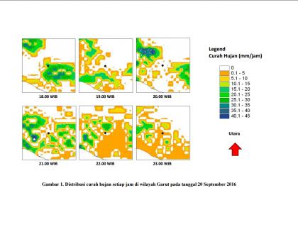 Identifikasi Kejadian Hujan Lebat di Wilayah Garut Sebelum Terjadinya Banjir Bandang