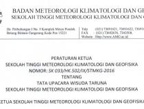 SK Tata Cara Upacara Wisuda Taruna STMKG 2016
