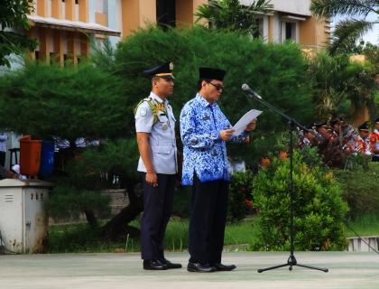Upacara Peringatan Hari Lahir Pancasila dan Pelantikan Satuan Polisi Taruna Periode 2017-2018