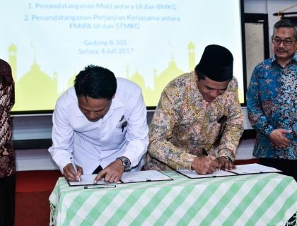 Penguatan Kerjasama Sekolah Tinggi Meteorologi Klimatologi dan Geofisika (STMKG) dan Universitas Indonesia (UI) dalam Bidang Pendidikan