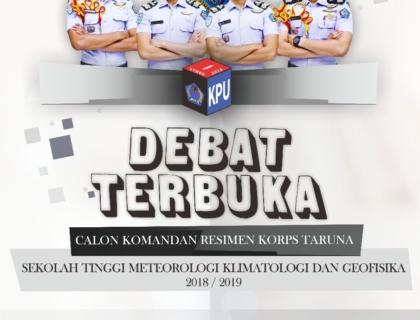 DEBAT TERBUKA CALON KOMANDAN RESIMEN KORPS TARUNA STMKG TAHUN 2018