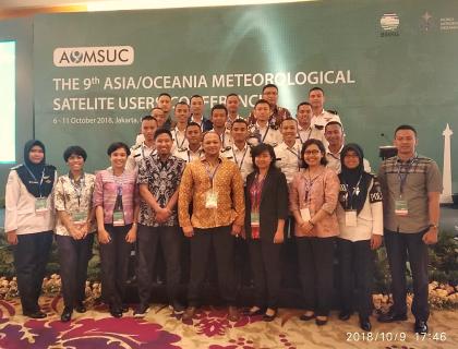 STMKG IKUT BERPARTISIPASI DALAM THE 9TH ASIA/OCEANIA METEOROLOGICAL SATELLITE USERS CONFERENCE (AOUMSUC-9)