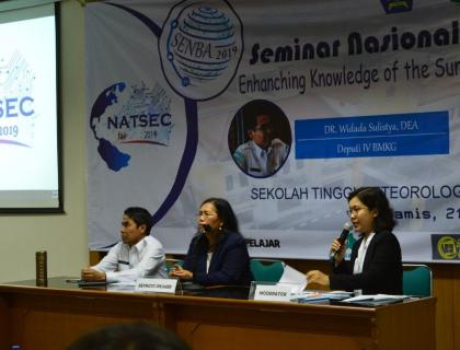 NATSEC FAIR 2019: SEMINAR NASIONAL BUMI DAN ATMOSFER