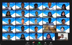 Prosesi pelantikan anggota satuan Polisi Taruna Sekolah Tinggi Meteorologi Klimatologi dan Geofisika angkatan 2020