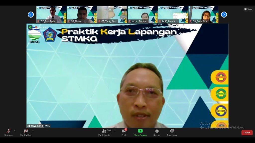 Sambutan sekaligus peresmian pembukaan PKL STMKG 2021 oleh Ketua STMKG